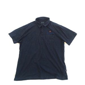 Patagonia Polo Shirt Navy Blue Allagash Beer Logo
